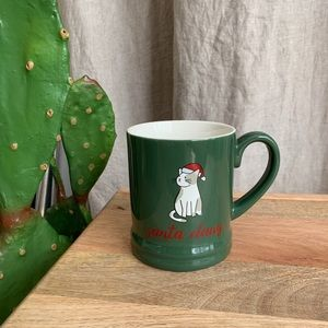 Threshold Christmas Santa Claws Green Mug